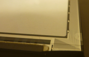 Righthand contact interface.  This would be at the upper left corner of the assembled iPad.