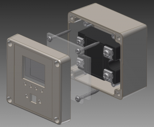 First concept for the controller for the reflow oven.  The PCB isn't shown as it hasn't yet been designed.
