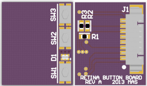 First go at the iPad LCD controller interface board.  It's smaller than it looks.