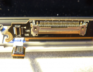 Connectors on the Macbook LCD assembly.