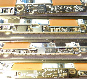 Detail of the backside of the Macbook LCD PCB.