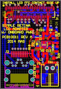 The new Simple Retina LCD Adapter, work-in-progress.